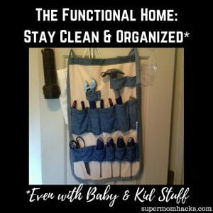 Keeping your home organized is always a challenge with kids. Here are a few of the tricks I've figured out so far.