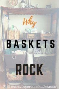 As far as I'm concerned, baskets are a mom's best friend. Here are tons of ideas on how to organize your life with them, on the cheap.