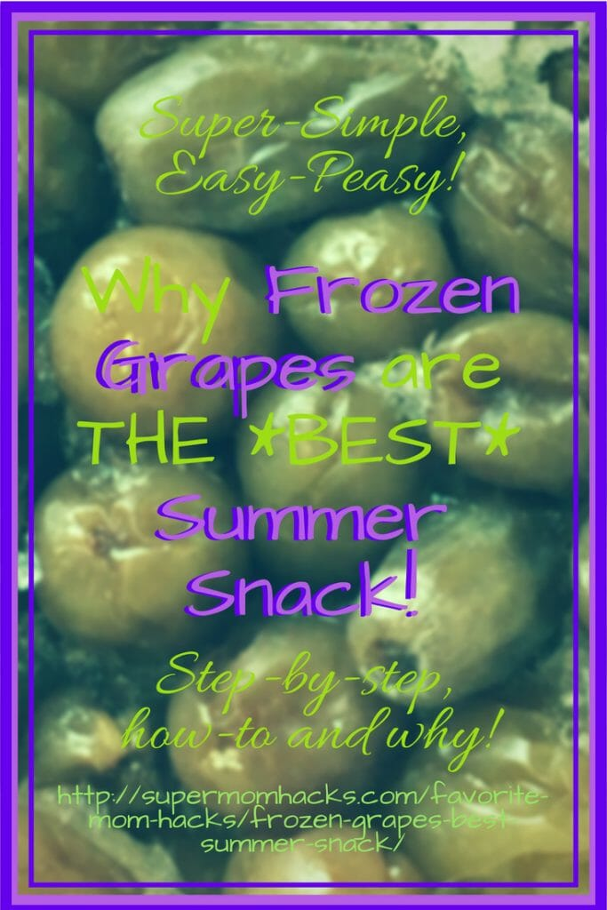 Frozen grapes are the perfect healthy summer snack for kids. If you haven't tried them before, here's why you should - along with complete step-by-step how-to's for the easiest summer snack EVER!