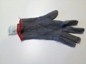 My metal kitchen glove is perfect for keeping my fingers intact while prepping dinner.