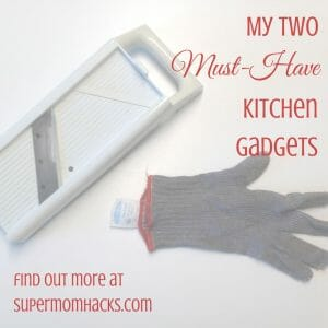 Want to save tons of time and revolutionize your food prep? That's what these kitchen gadgets - my mandoline and my chain-metal glove - have done for me.