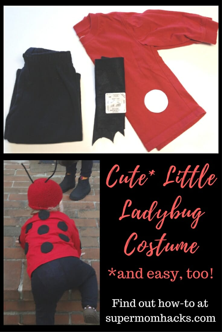 What is cuter than a little Halloween ladybug? A little ladybug costume you made yourself! This DIY project is super-easy, and takes only 1-2 hours to make.