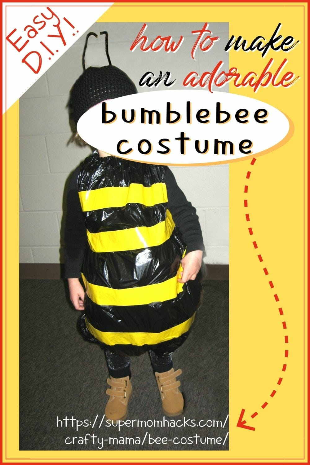 If you want a super-cute, super-easy costume to make, you just can't beat this simple yet adorable DIY bee costume. Easy DIY Halloween Costumes: Bumbling Bee Costume - SuperMomHacks | bee costume | bee costume diy | bee costume kids | bumble bee costume toddler | easy bee costume | diy halloween costumes | easy costume ideas | easy halloween costumes | halloween costumes diy | halloween costume ideas | costume ideas | bumble bee costume girl | bee costume kids | bee costume toddler