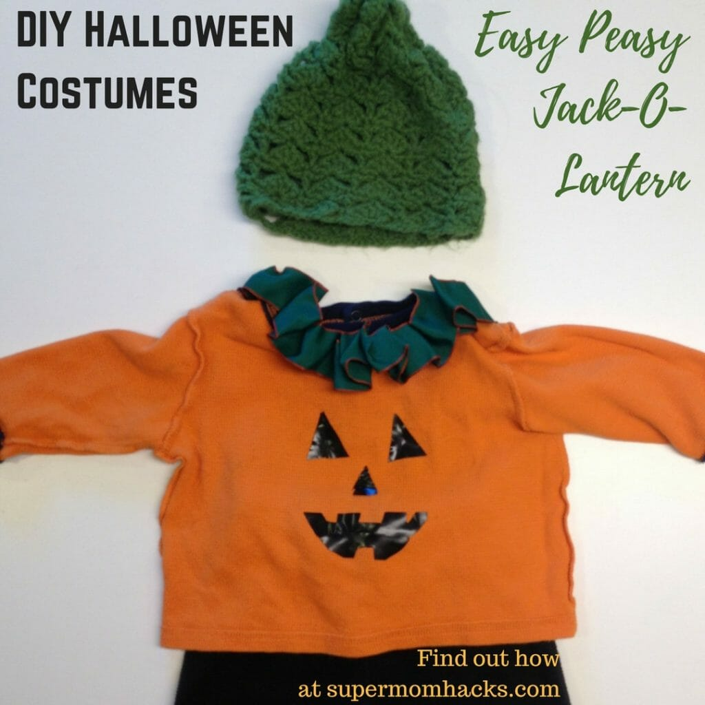 Need a quick-and-easy Halloween costume on the cheap for your little one? A preprinted T makes this jack-o-lantern look a snap, but it's easy to DIY, too!