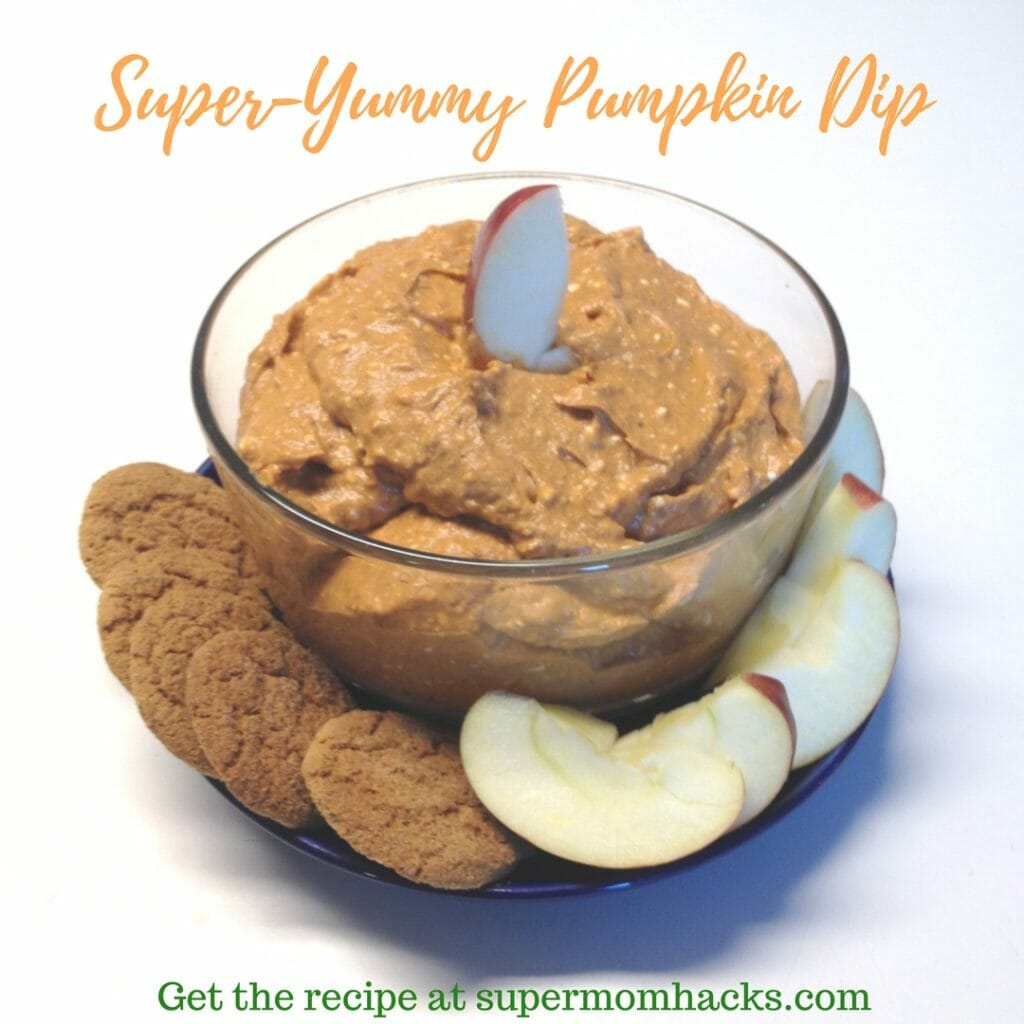 Craving the pumpkin spice flavors that go along with autumn? Try this super-yummy pumpkin dip on apple slices for a delicious, healthy, filling fall snack.
