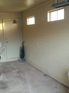 Evan's garage before