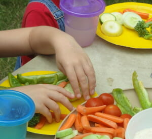 Thanks in part to our CSA membership, my offspring actually love snacking on fresh veggies, I kid you not.
