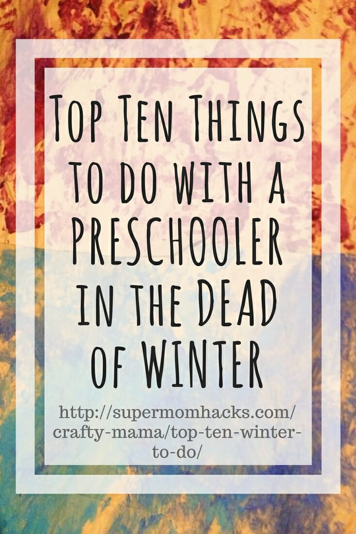 Are you and yours going stir-crazy yet from too many snow days or not enough sunlight? Here's a list I brainstormed last winter for stuff to do when you're all going nuts inside.