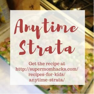 Unlike your typical breakfast strata, adding vegetables transforms this one from a traditional breakfast/brunch dish into a hearty evening meal.