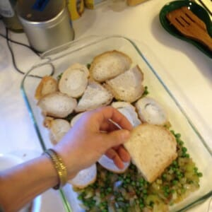 layer the bread