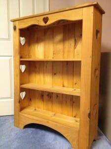 Essie's new heart-motif bookcase
