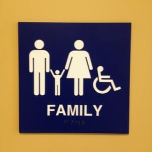family rest stop sign