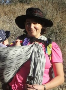 hiking w maya wrap