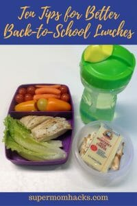 Whether you're new to prepping school lunches or in need of new inspiration, these ten tips will help you make healthy, kid-friendly, budget-friendly meals.