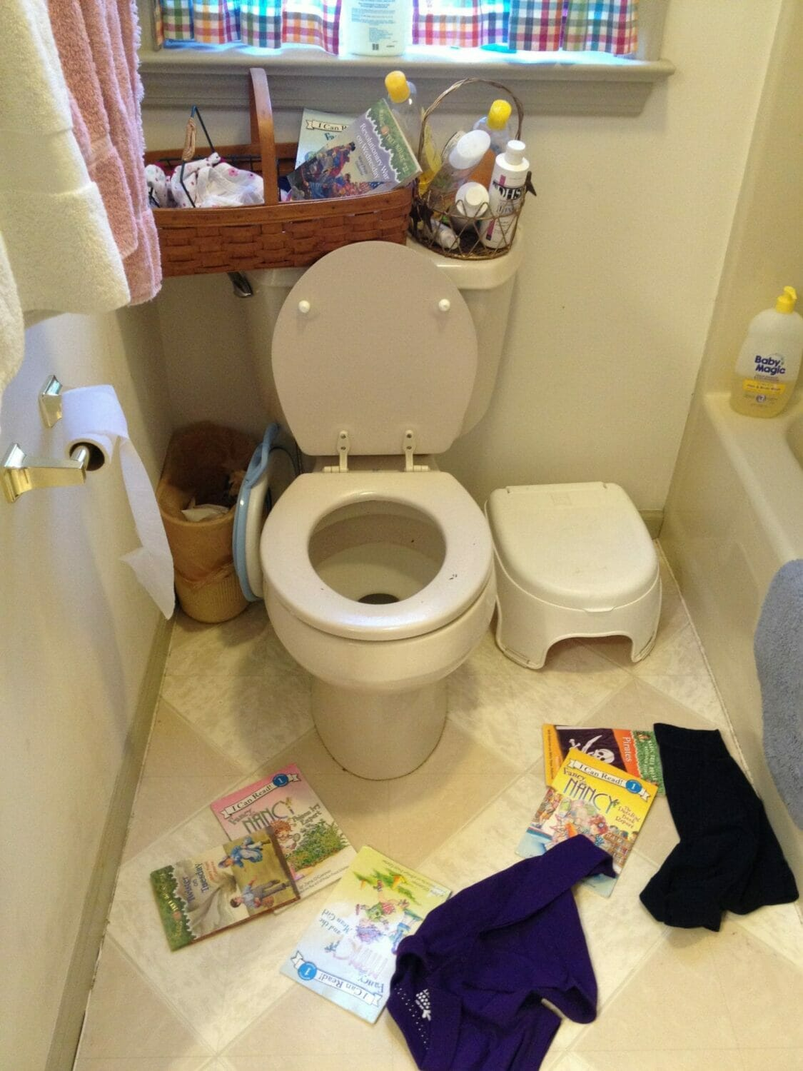 Before and After: Bathroom Converts into Toilet