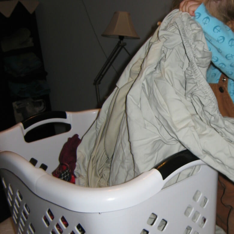 getting out the laundry