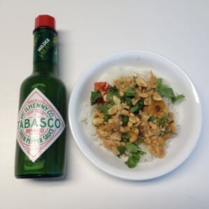 thai chicken plus tabasco