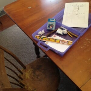 Kimmie's homework station