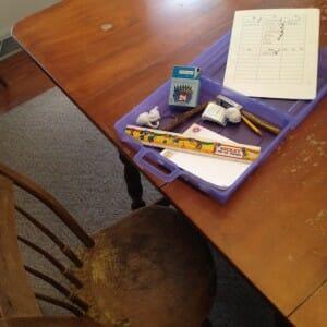 Kimmie's homework station