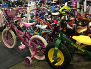bikes for sale at consignment event