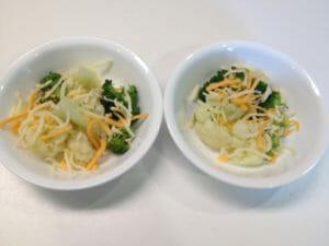 cheesy broccoli & cauliflower