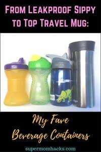 Looking for leakproof beverage containers for your summer travels? From leakproof sippy cup to adult travel mug, here are my top picks for the whole family.