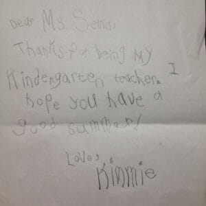 Kimmie's note