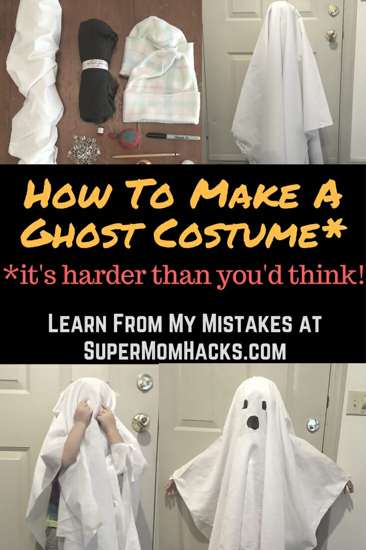 Want to make a ghost costume out of an old sheet for your kid this Halloween? Be forewarned: it's a LOT harder than you would think.