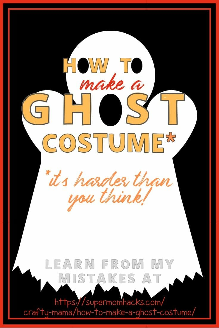 Want to make a basic bedsheet ghost costume for your kid this Halloween? Be forewarned: it's a LOT harder than you would think.