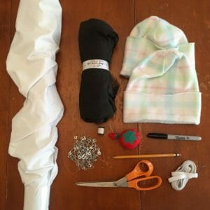 supplies-to-make-a-ghost-costume