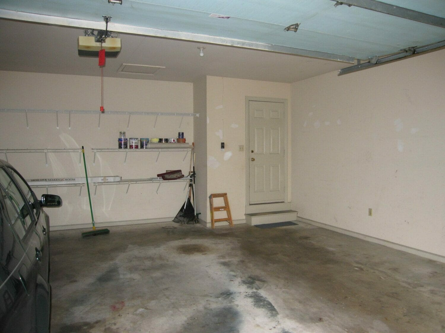 It's easy to organize your garage when it's empty!