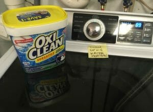 solution number 4 bleach or oxygen bleach ie Oxi-Clean
