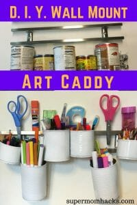 Meta description preview:This easy DIY wall-mounted art caddy is an ideal storage solution for any workspace suffering from clutter creep, from kids' art tables to grownup desks. art caddy | wall mount art caddy | DIY art caddy