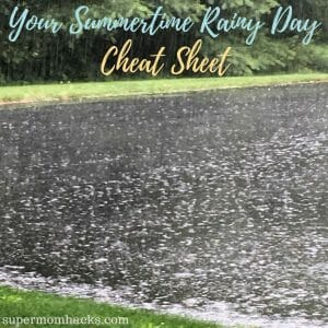 Your vacation week is finally here - but the forecast calls for nonstop rain! No worries; Summertime Rainy Day Cheat Sheet to the rescue. (You're welcome.)