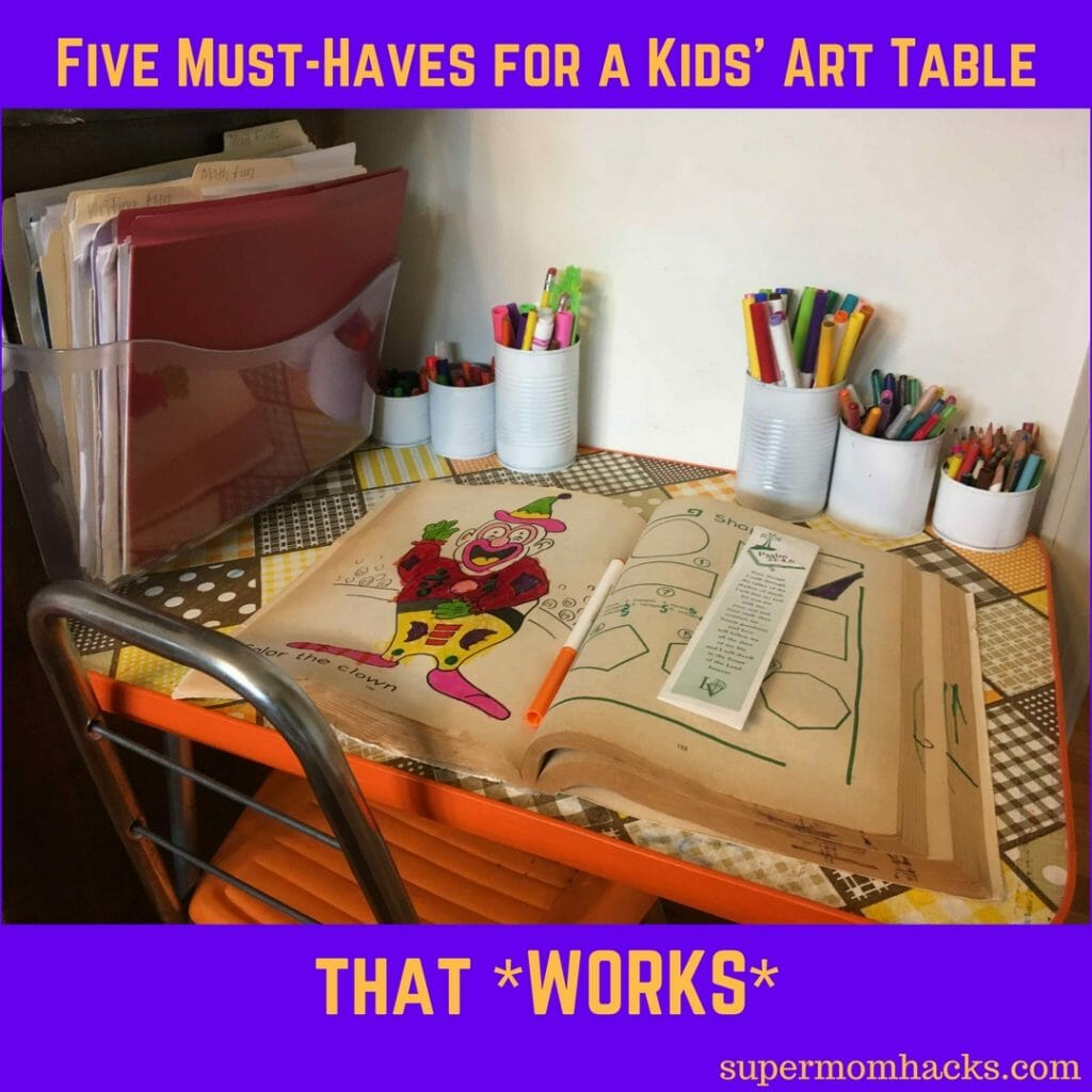 Do your kids have an art table? If not, setting one up is easy. Here are five must-haves that make my girls' art table a place where they LOVE to create.