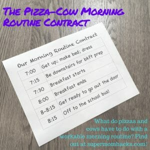 Does your morning routine need a reboot? Have your back-to-school efforts fallen short? Desperation has us trying something new: a Morning Routine Contract.