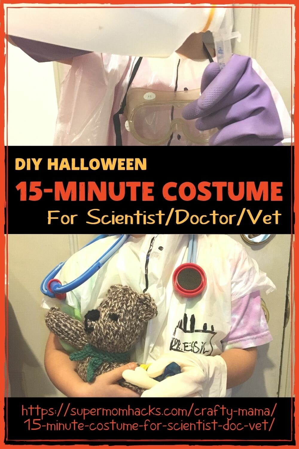 Want a Halloween outfit that takes almost no time to make and costs ZERO? This 15-minute scientist/doctor/vet costume is genius.