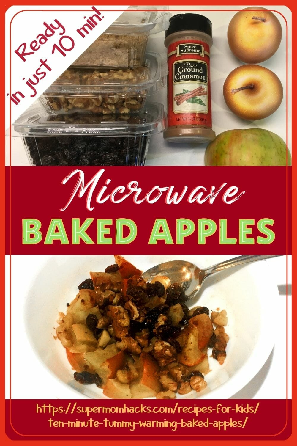 Want a hearty start to your day? These healthy microwave baked apples are as fast and easy to make as they are delicious.