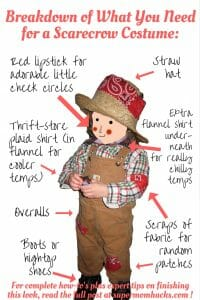 Got a little garden helper? Not only is this scarecrow costume fast, easy, and cute, there's a good chance you already have what you need to make it!