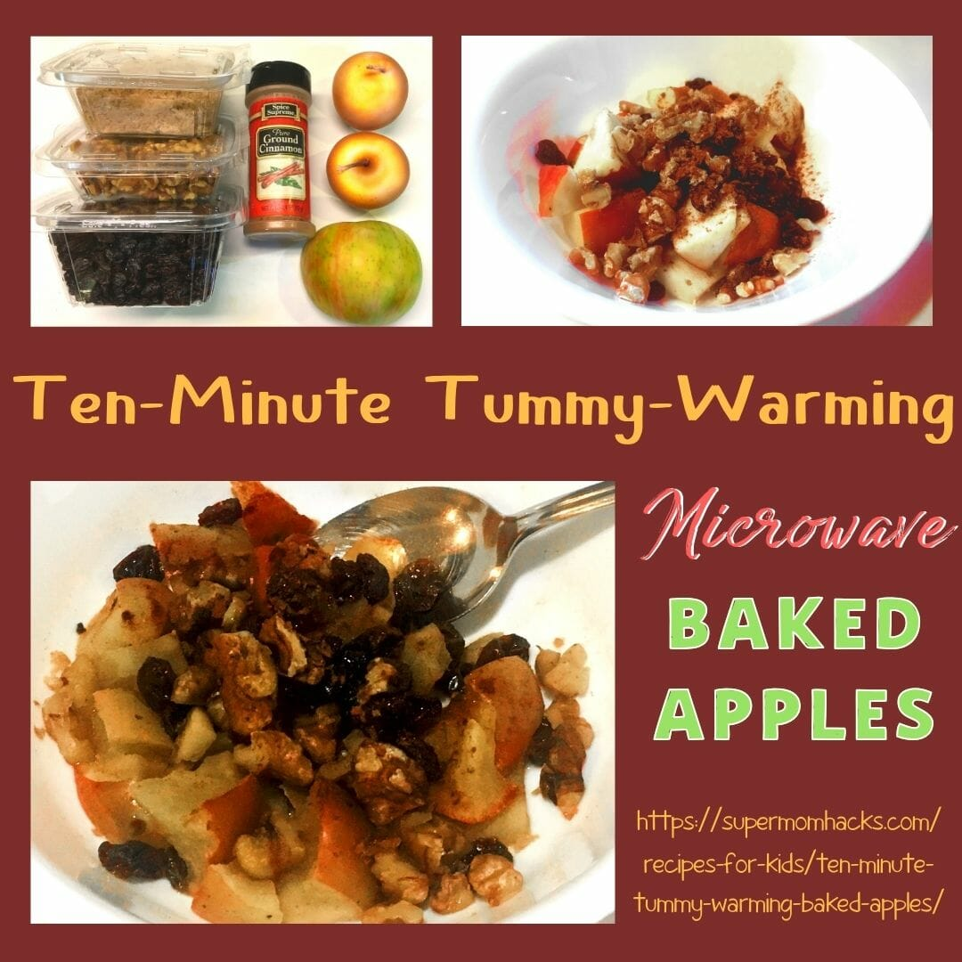 Want a tummy-warming, healthy start to your day? These weekday-friendly microwave baked apples are ready in just ten minutes!