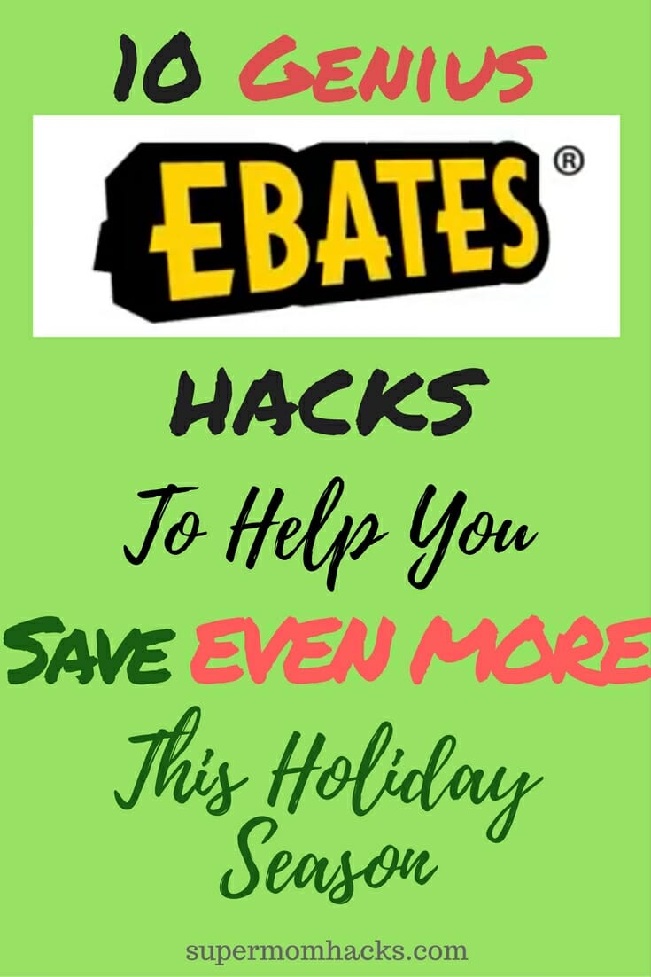 Want to get every penny that's yours? Then make sure you're not missing out on these ten genius hacks to help you save EVEN MORE with Ebates! Tips for using Ebates Cashback | How to save money on everyday purchases | maximizing your cash back with Ebates
