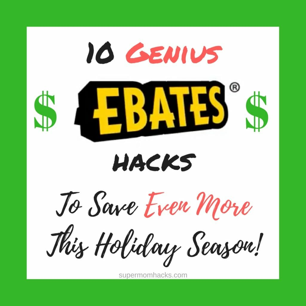 Already use Ebates to get cash back on everyday purchases? You could be missing out if you don't use these 10 genius hacks to help you save EVEN MORE! holiday shopping tips | tips to save money on holiday shopping | save money this holiday season | save money on holiday shopping | save money on Christmas gifts