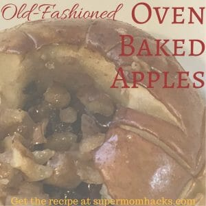 Oven baked apples make a tasty prep-ahead Christmas morning breakfast dish that's perfect for any lazy winter morning (and they smell fabulous!).
