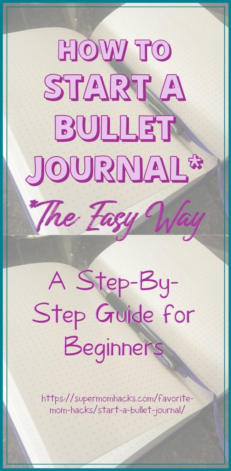 How To Start A Bullet Journal (The Easy Way!)