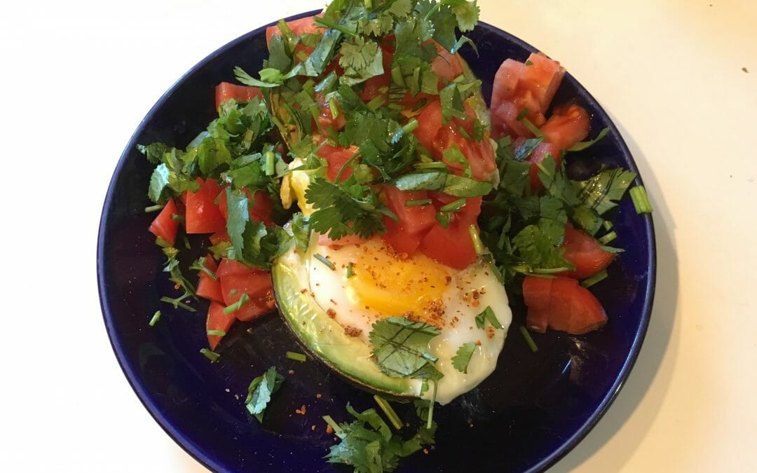 Mexican-Style Avocado Egg Breakfast Cups