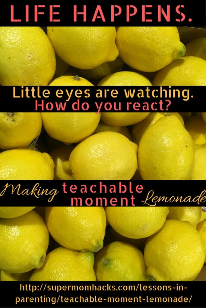 Life happens. When it does, our reaction as parents is critical to the little ones who watch us and learn by example. How will YOU react to life's next teachable moment?