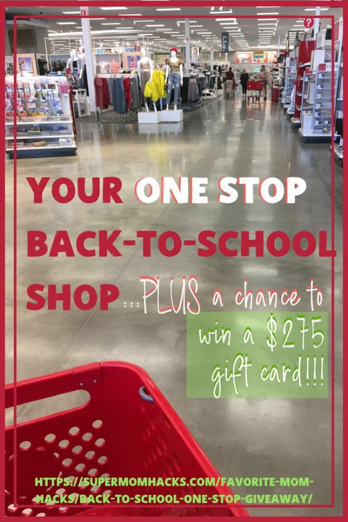 Short on time? Need back-to-school shopping to be ONE STOP? To help you out, here's a chance to win $275 to use at my fave one-stop back-to-school shop!