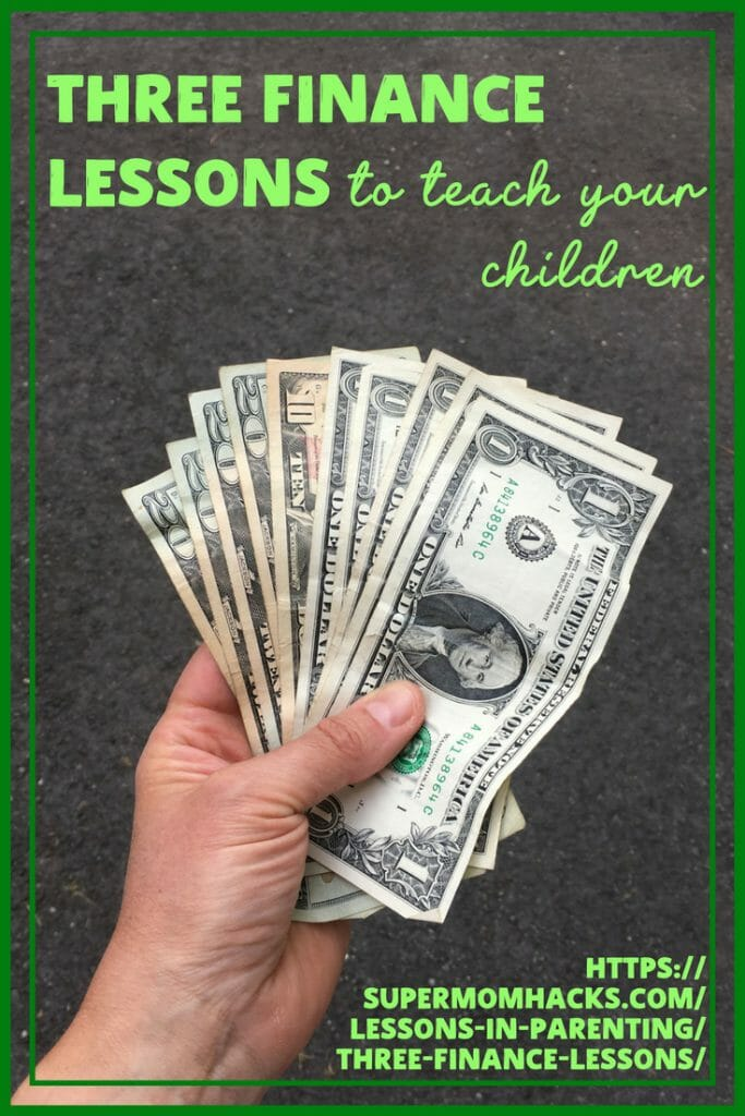 Have you taught your kids about managing money yet? The sooner you start teaching them finance lessons, the better! These three topics will get you started.