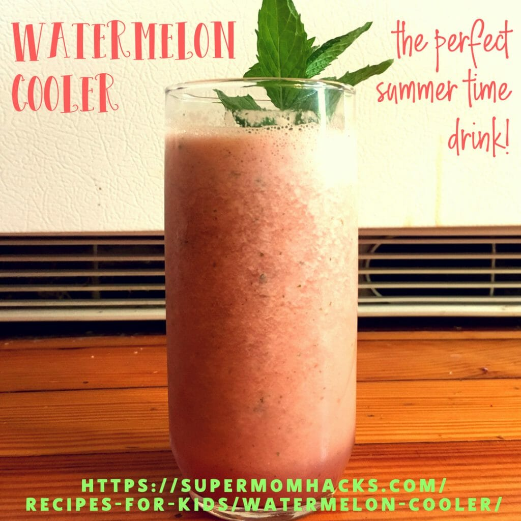 Looking for the perfect summer time drink, one that's refreshing and kid-friendly but easily adapted for grownup tastes? Try this Watermelon Cooler!