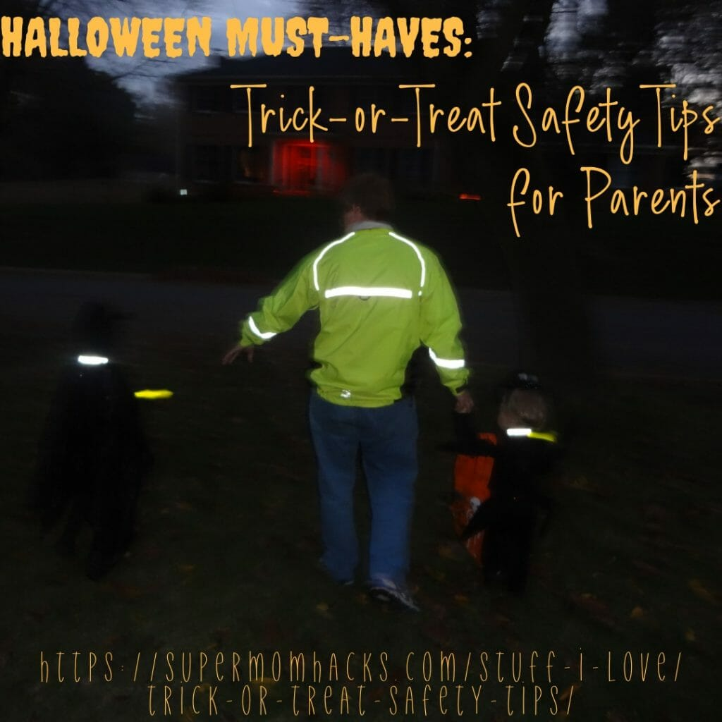 How do you keep your kiddos visible and safe on Halloween? These trick-or-treat safety hacks will keep your little ones visible after dark!